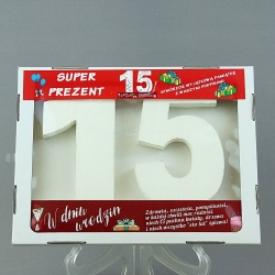 Wooden birthday digits - 15