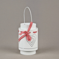Cylinder candle holder with heart on foot - mix