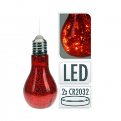 Glass LED bulb - red