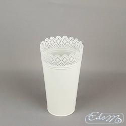 Metal cap on pot XL - lace