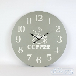Wooden wall clock Coffee - 60 cm