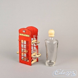 Telephone booth with glasses - carafe