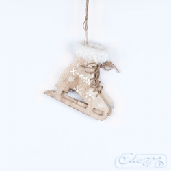 Ice skates - a wooden pendant
