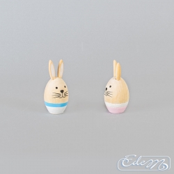Wooden egg with rabbit ears - mix