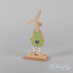 Easter bunny in a green suit