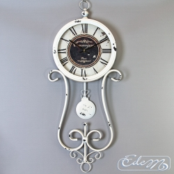 Wall clock with a pendulum