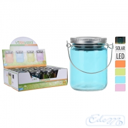 Decorative solar glass jar - mix colour