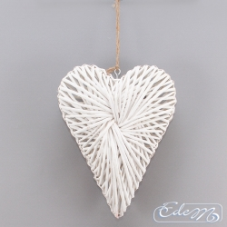 Wicker heart densely braided - large