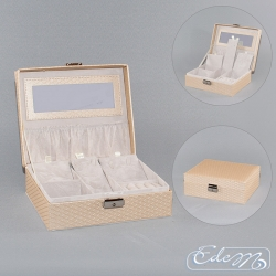 Casket for jewelry - cream