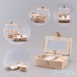 Jewelery casket - travel version - cream