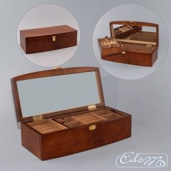 A long casket for jewelry - brown
