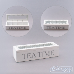 Tea box with lace