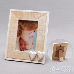 Photo frame with hearts - 9 x 13 cm