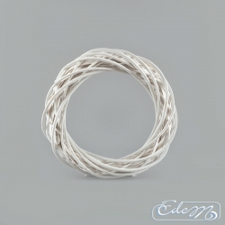 Wicker white wreath - 25 cm
