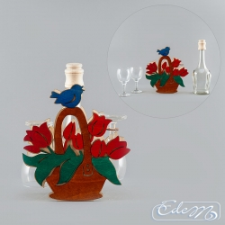 Basket with flowers - occasional carafe