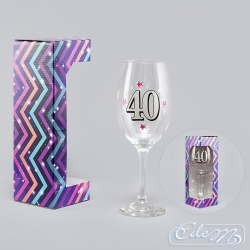 Wine glass XXL - 40th