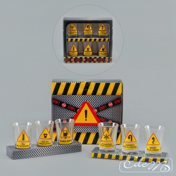 Road signs - a set of 6 party glasses