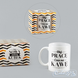 Mug with the inscription - leave the job, time for coffee