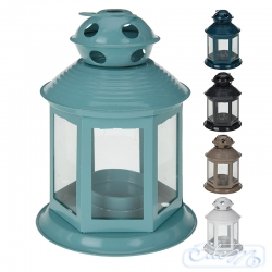 Metal small lantern - a mix of colors