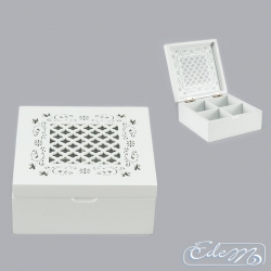 Box with compartments - openwork lid