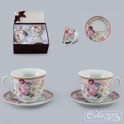 Cups for couple - Romantic roses