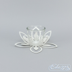 Flower - metal candle holder - big