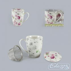 Mug with an infuser - Wild rose