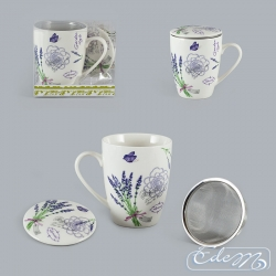 Mug with an infuser - Lavender