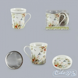 Mug with an infuser - Forest flowers