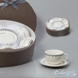 Set of 6 cups with ornament