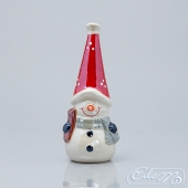 Snowman in a cap - decorative figurine