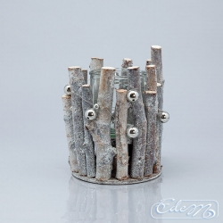 Twig candle holder - vertical