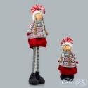 Doll in a scarf - Christmas mascot on telescopic legs