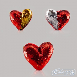 Heart - sequin pillow - mix