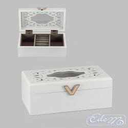 Jewelry box with openwork decor