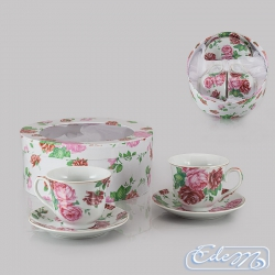 Cups for two with a rose