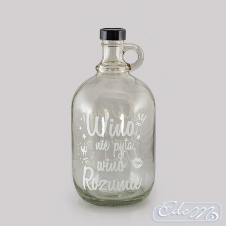 Carafe Wine bottle - The wine does not ask