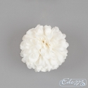 Artificial flower - small pompom white