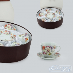 Set of 6 cups with wild flowers