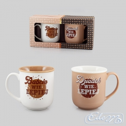 Set of cups for grandma and grandpa - He knows better