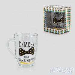 Glass mug - Grandpa is the most important thing