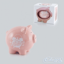 Penalty for being late ... - A large piggy bank