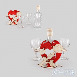 Heart with a rose - a special carafe