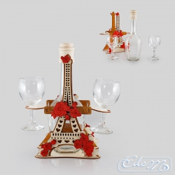 Eiffel Tower with flowers - occasional carafe