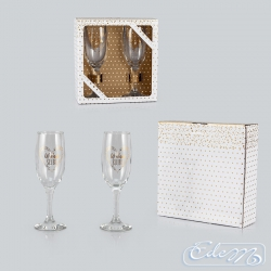 On the wedding day - a set of wedding glasses