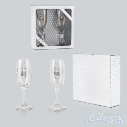 Husband and wife - a set of platinum glasses for a couple