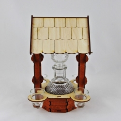Well - a carafe with glasses