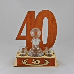40 - a carafe with glasses