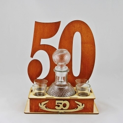 50th - a carafe with glasses